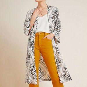Anthropologie Margaux Leopard Duster Kimono